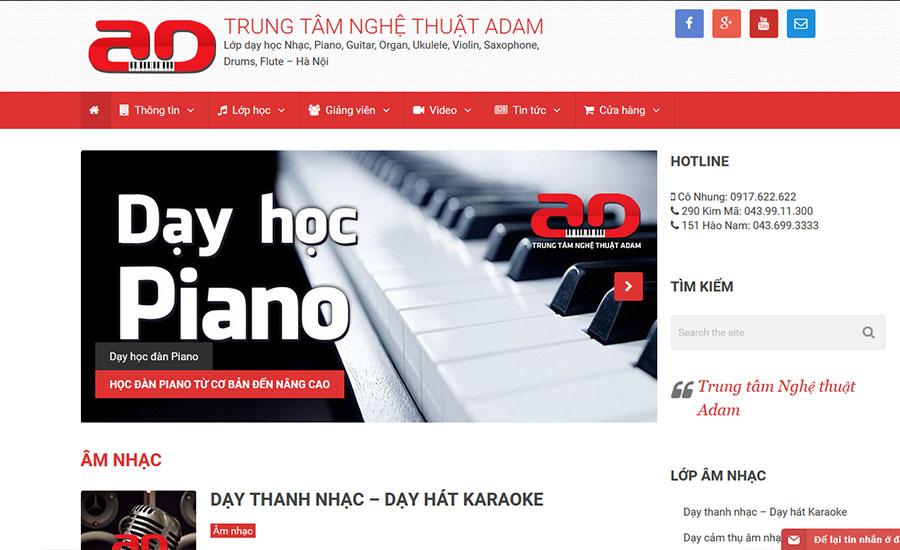 Thiết kế website Dayhocnhac.vn