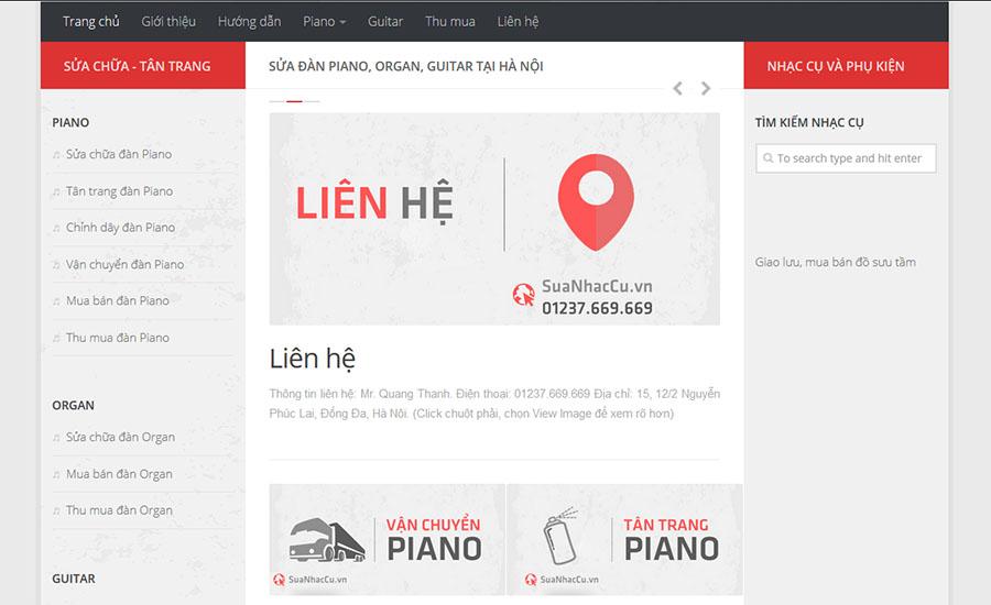 Thiết kế website SuaNhacCu.vn