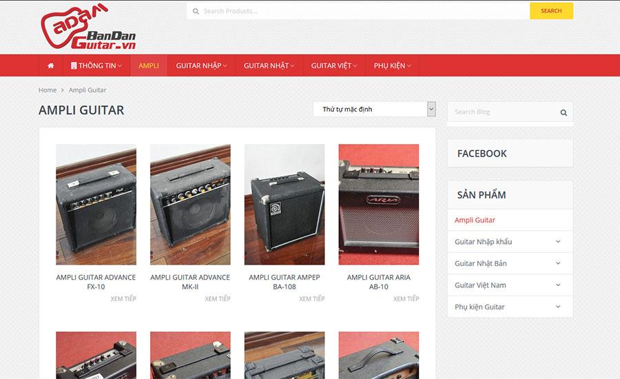 Thiết kế website BanDanGuitar.vn