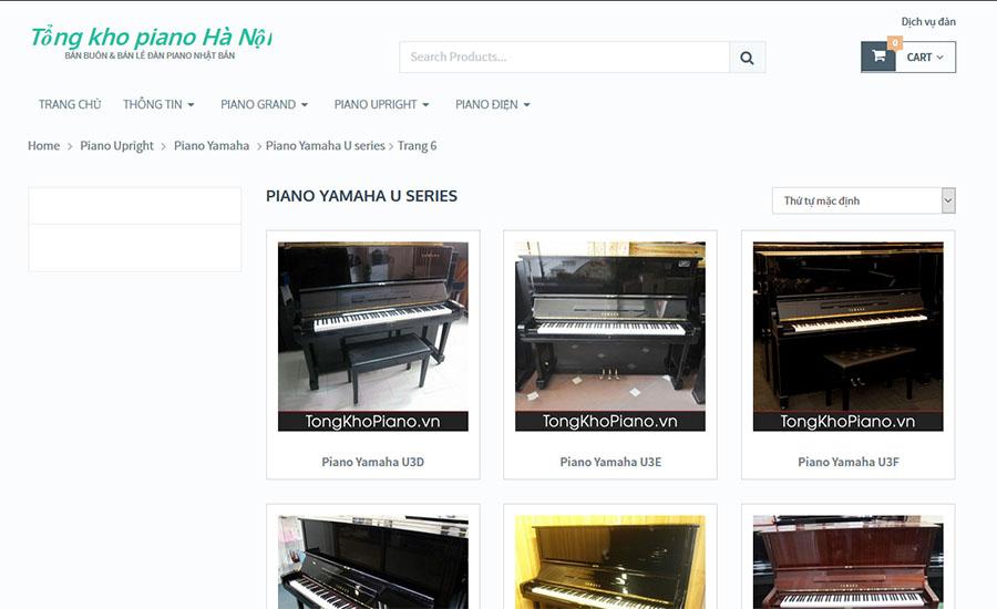 Thiết kế website TongKhoPiano.vn